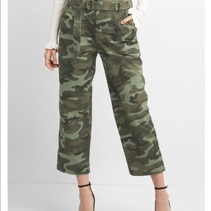 Straight fit utility crop pants in camo by GAP
